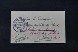 POLOGNE - Petite Enveloppe De Dabrowa Un Sénateur à Paris En 1932, Affranchissement Au Verso - L 90050 - Briefe U. Dokumente