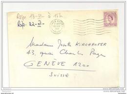 233 - 14 - Lettre Envoyée D'Earls Court à Genève 1964 - Covers & Documents
