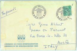 97345 - FINLAND - Postal History - POSTMARK: Parliament Conference 1955 FARINET - Cartas