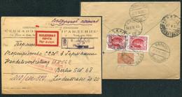 3723 Russia SOVIET Union AIRMAIL Rostov/Don Cancel 1930 REG-cover To Germany Berlin Zentralflughafen Pmk - Briefe U. Dokumente