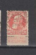 COB 74 Centraal Gestempeld Oblitération Centrale LIEGE Effets De Commerce - 1905 Thick Beard
