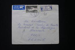ISRAËL - Enveloppe En Recommandé De Haifa Pour Le Général De Gaulle En 1963  - L 90056 - Lettres & Documents