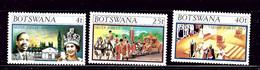 Botswana 179-81 MNH 1977 QEII Silver Jubilee  #2 - Botswana (1966-...)