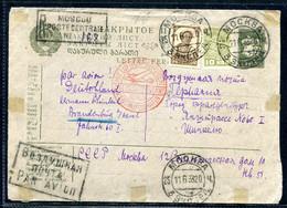 3755 Russia SOVIET Union AIRMAIL Moscow Cancel 1933 R-cover To Germany Brandenburg Berlin Zentralflughafen Pmk - Briefe U. Dokumente