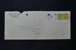 CANADA - Affranchissement Perforé Sur Enveloppe Commerciale De Montréal En 1925 Pour Paris - L 90060 - Briefe U. Dokumente