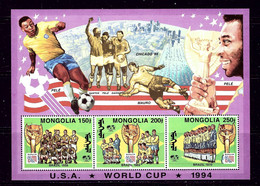 Mongolia 2156a MNH 1994 World Cup Soccer S/S - Mongolia