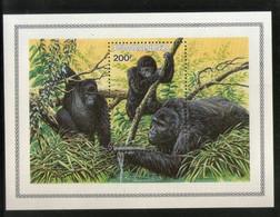Rwanda 1985 Gorilla Monkey Wildlife Animal M/s Sc 1212 MNH # 6142 - Monkeys