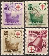 España U 1066/1069 (o) Tuberculosos 1949 - 1931-50 Usados