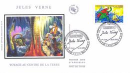 Enveloppe 1er Jour Personnages Célèbres 2005, Jules Verne, Voyage Au Centre De La Terre, 2005 (YT 3791) - 2000-2009