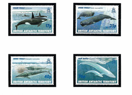 Brit Ant Terr 244-47 MNH 1996 Whales - Sin Clasificación