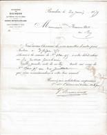 1879 FACTURE-COURRIER SUCRERIE DE BOURDON PUY DE DOME - 1800 – 1899