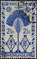Madagascar Obl. N° 274 - De La Série De Londres Le 2fr.50 Outremer - Oblitérés