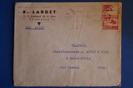 L7 MAROC BELLE LETTRE 1947 PAR AVION CASABLANCA POUR ST FELIX FRANCE  T.P SEUL +AFFRANCH INTERESSANT - Briefe U. Dokumente