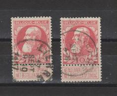 COB 74 Centraal Gestempeld Oblitération Centrale LIERRE Deux Polices De Caractère - 1905 Thick Beard