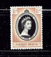 Northern Rhodesia 60 MH 1953 QEII Coronation    #2 - Nordrhodesien (...-1963)