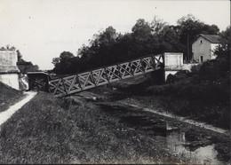 Photo Photographie Ligne Train Esternay Marne à Romilly Aube Pont Sur Canal De Bernières à Conflans Situation 21 9 44 - Guerra, Militares