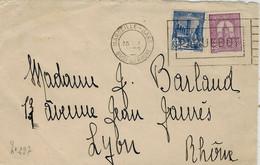 1930- DEVANT ( Front ) De Lettre Affr. T P Tunisiens Oblit. Flamme MARSEILLE-GARE / PAQUEBOT - Poste Maritime