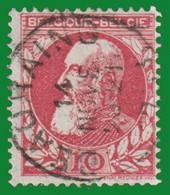 "COB N° 74 - Belle Oblitération ""BEAURAING"" - 1905 Thick Beard"