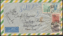 Brasilien - Air Mail - Franz. Zone Letter - 4x Nice Stamps - Cartas