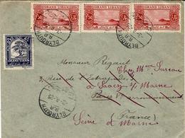 1925-enveloppe  De Beyrouth Affr. à 4,60 Piastres  Pour La France - Lettres & Documents