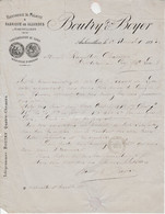 1883 BOUTRY & BOYER RAFFINERIE DE MELASSE à AUBERVILLIERS - 1800 – 1899