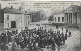35 ILLE VILAINE MONTFORT SUR MEU LE MARCHE AUX VEAUX DEVANT GENDARMERIE ANIMATION BEAU  PLAN - Sonstige Gemeinden