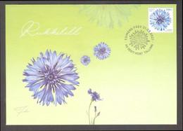 Flowers Cornflower Estonia 2021 Stamp FDC  Mi 1008 - Estonie