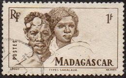 Madagascar Obl. N° 306 - Types Sakalaves De La Série Courante De 1946 - Oblitérés