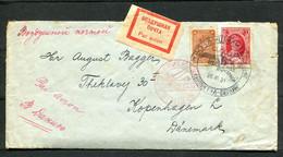 3784 Russia SOVIET Union AIRMAIL Leningrad-Berlin Cancel 1931 Cover To Denmark Kopenhagen Luftpost Pmk - Briefe U. Dokumente