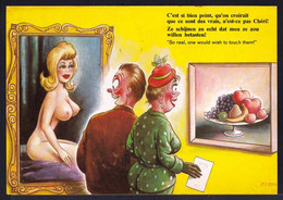 """COMIC FITZPATRICK - Bamforth B35 - """" SO REAL HE WOULD LIKE TO TOUCH THEM - Si Bien Peint On Voudrait Toucher ! - Humor"""