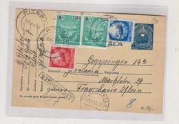 ROMANIA 1953 PITESTI Registered Postal Stationery To Germany - Covers & Documents