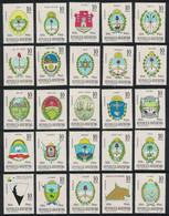 1966 Argentina Sequicentenario Independencia Escudos De Provincias 25v. Mint - Nuevos