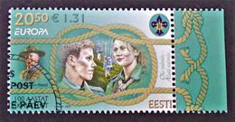 EUROPA 2007 - CENTENAIRE DU SCOURISME - OBLITERE - YT 544 - MI 585 - BORD DE FEUILLE - BELLE OBLITERATION - Estonie