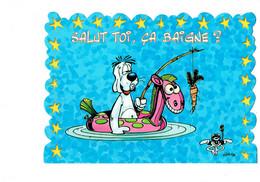 Cpm - Illustration - GOTLIB - Gai Luron 17695 - CHIEN à La Pêche Bouée Carotte Souris Masque Plongée - Andere Illustrators