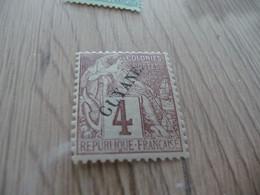 TP Colonies Françaises Guyane   Charnière N°18 - Neufs