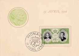 MONACO 1956 MARIAGE PRINCIER - Briefe U. Dokumente
