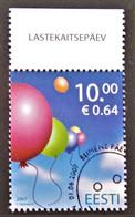 JOURNEE MONDIALE DES ENFANTS 2007 - OBLITERE - YT 545 - MI 586 - HAUT DE FEUILLE - BELLE OBLITERATIN - Estonie