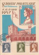 MONACO 1957  BOURSE PHILATELIQUE DE LA MEDITERRANEE - Briefe U. Dokumente