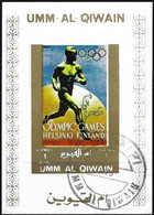 Umm Al-Qiwain 1972 - Mi B 1112 BwBL - YT Xxx ( History Of Olympic Games : Helsinki 1952 ) Block Impeforated - Sommer 1952: Helsinki