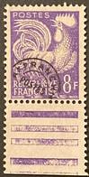 France YTPO109 - Timbres Pré-oblitérés Type Coq Gaulois 8 F MNH Stamp 1959 - FRAPO109MNH2 - 1953-1960