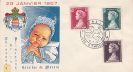MONACO 1957 NAISSANCE PRINCESSE CAROLINE - Briefe U. Dokumente