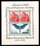 SUISSE - BLOC N°  4** - AARAU 1938 - 25e Anniversaire De La Poste Aérienne - - Blocks & Sheetlets & Panes