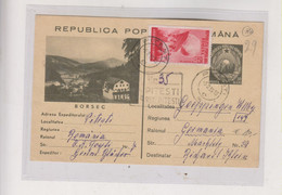 ROMANIA 1955 PITESTI Registered Postal Stationery To Germany - Briefe U. Dokumente