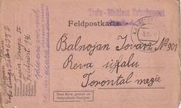 AUTRICHE 1917 FELDPOSTKARTE  POUR TORONTAL - Cartas