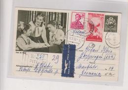 ROMANIA 1956 PITESTI Registered Postal Stationery To Germany - Briefe U. Dokumente