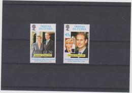 TRISTAN DA CUNHA (GRANDE BRETAGNE) 2 T Neufs Xx - Mariage Prince Edward - 1999 - Tristan Da Cunha