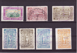 3685) Later Canada BC Law Nice Stamps Inspect British Columbia Revenue - Usados