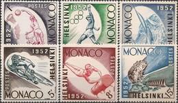 MONACO - COMPLETE SET (not AIRMAIL) HELSINKI'52 SUMMER OLYMPIC GAMES 1953 - MNH - Sommer 1952: Helsinki