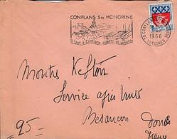 FLAMME DE CONFLANS SAINTE HONORINE YVELINES 1966 - Annullamenti Meccanici (pubblicitari)