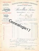 38 3135 RENAGE ISERE 1896 Manufacture Faulx Faucilles REVOLLIER FRERES Dest JOLY - Imprimerie & Papeterie